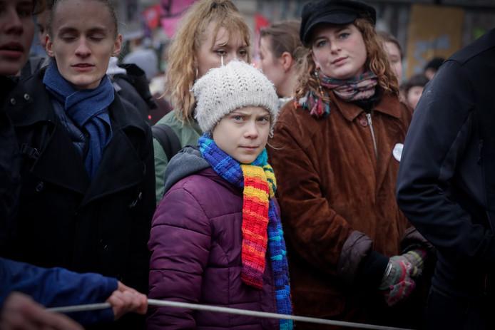 La jeune militante Greta Thunberg a marché pour le climat dans les rues de Bruxelles ce vendredi 6 mars 2020.