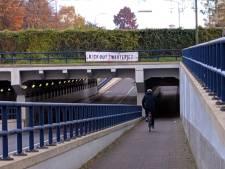 Spandoeken in Dordrecht opgehangen tegen Zwarte Piet