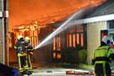 Felle brand verwoest feestzaal in Etten-Leur.