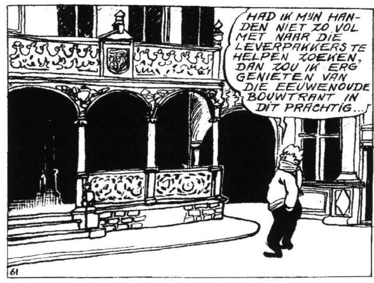 Jan Spier voor het Veurnse stadhuis.