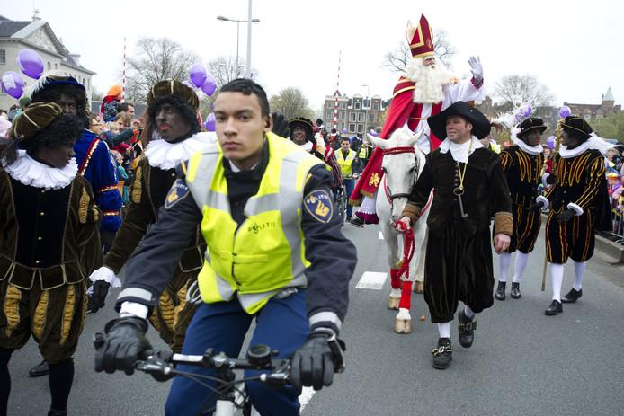 De Sinterklaasintocht vorig jaar in Amsterdam