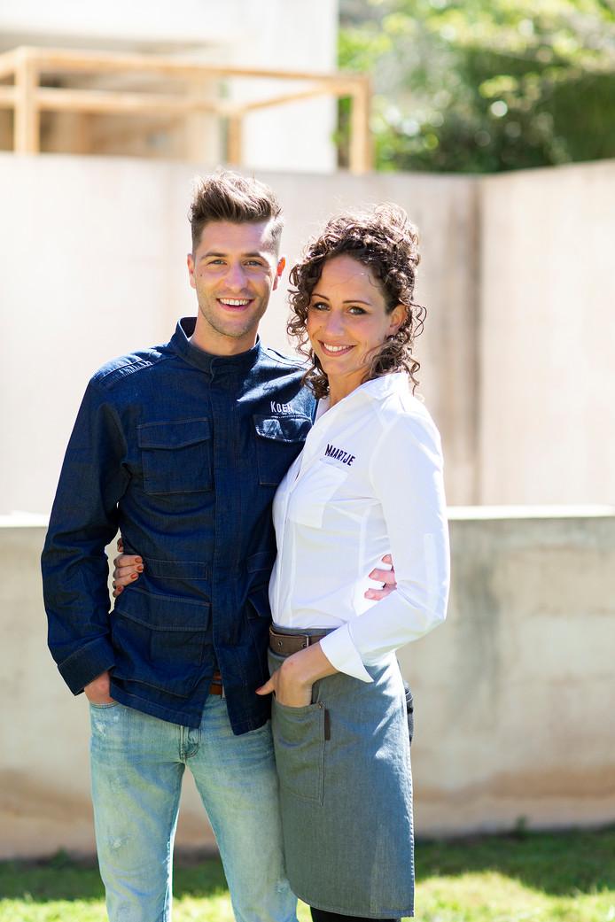 Koen van Beckhoven en zijn vriendin Maartje.