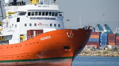 Ngo-schip Aquarius vaart na maand in Marseille opnieuw uit om migranten in nood te redden