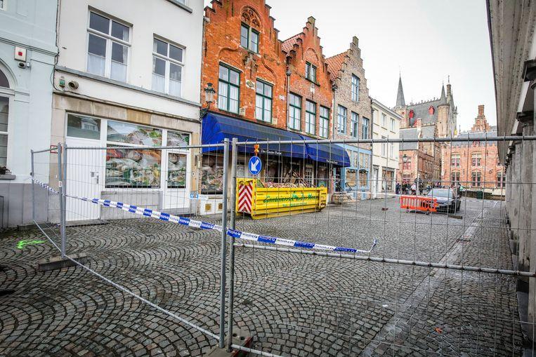 Brugge verdieping Den Gouden Karpel stort naar beneden tijdens verbouwingswerken