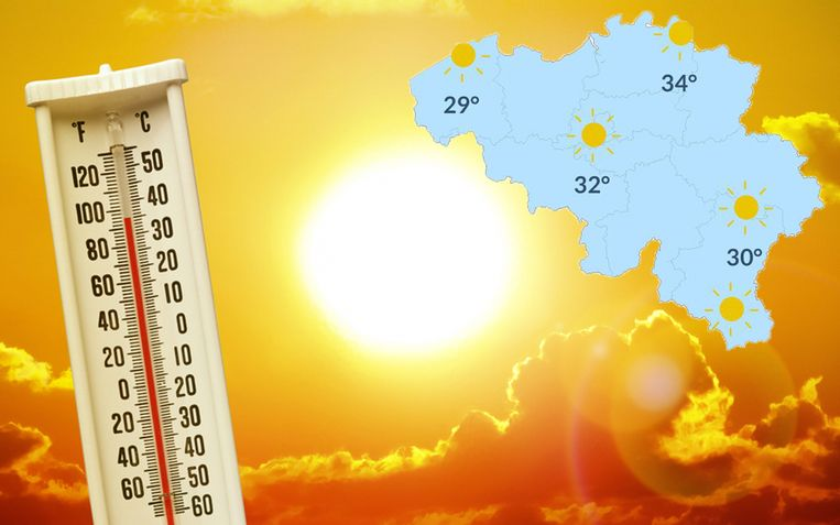 Zaterdag wordt het zonnig en op de meeste plaatsen tropisch warm.