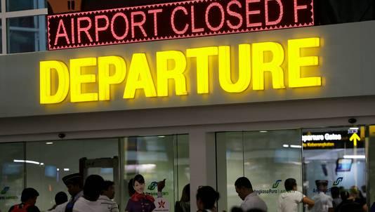 De internationale luchthaven Ngurah Rai op Bali.