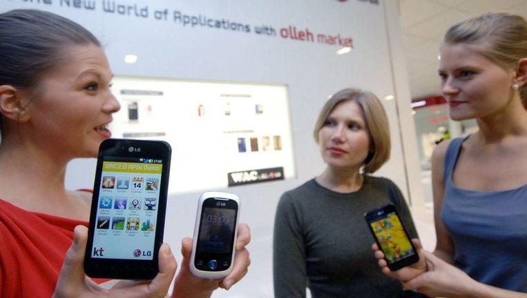 LG op het World Mobile-congres in Barcelona. Beeld epa