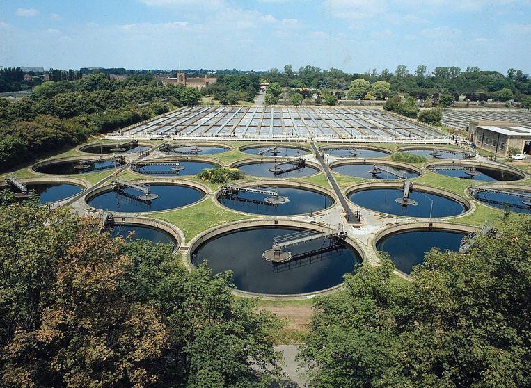 Een rioolwaterzuiveringsinstallatie.  Beeld EPA
