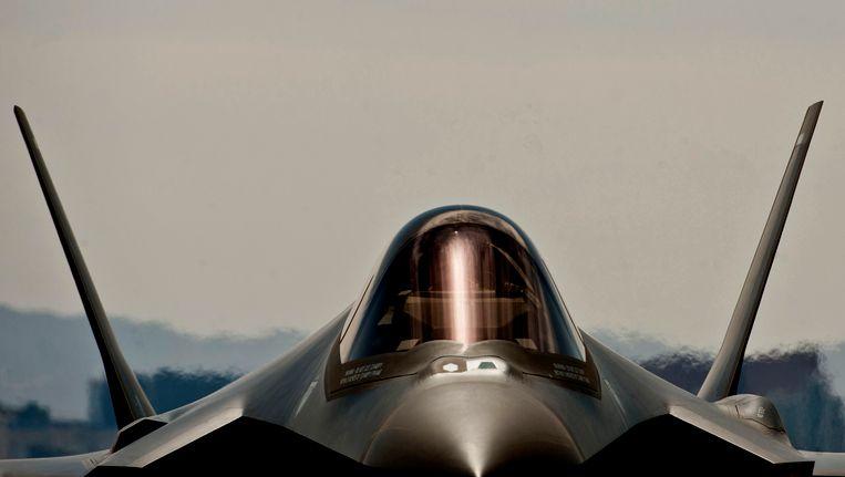 Een F-35A Lightning II van de Amerikaanse luchtmacht in Nevada
