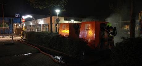 Plastic-containers bij Passewaaij weer in brand