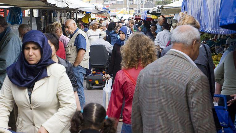 Overzicht van de Haagse Markt. Beeld ANP