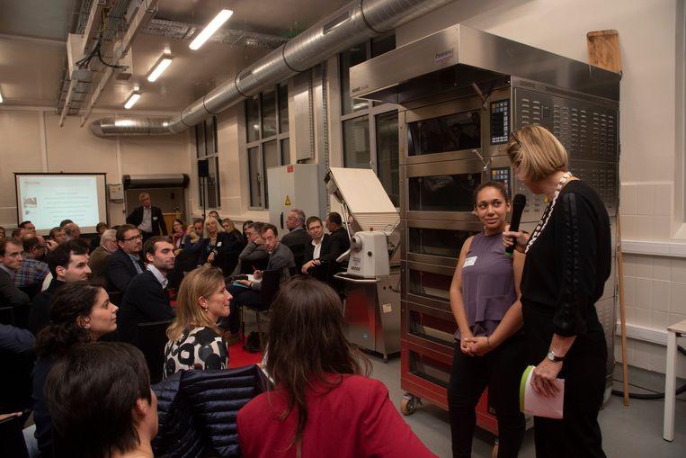 Bij de opening van de nieuwe demorumte in de Food Pilot kwamen ondernemers vertellen hoe het ILVO hen hielp bij innoverende technieken.