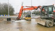 Werf Stenenbrug onder water na leidinglek
