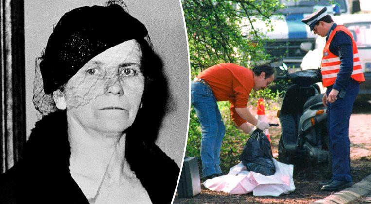 Marie Alexandrine Becker was de seriedoder die de meeste slachtoffers maakte in ons land. Ze sloeg toe in de jaren dertig. Rechts onderzoekt de politie enkele vuilniszakken met lichaamsdelen die de 'Slachter van Bergen' eind jaren negentig achterliet.