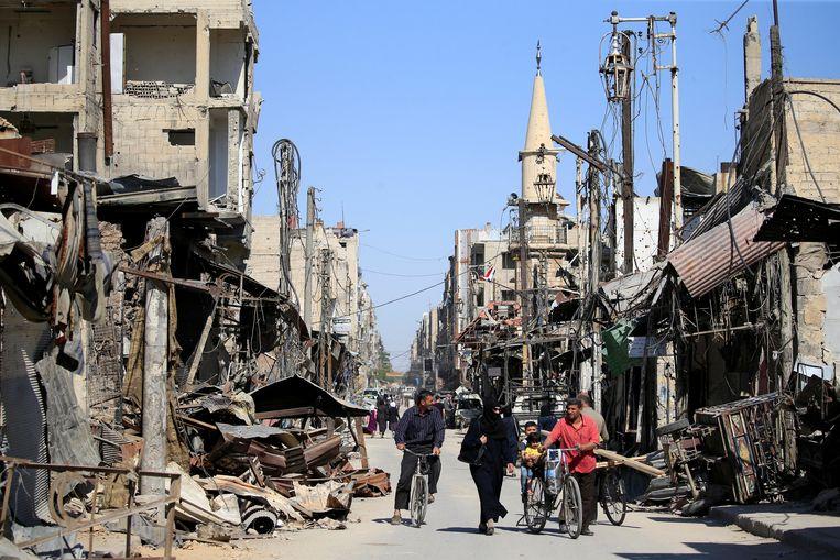 Douma is in de Syrische burgeroorlog zwaar getroffen.
