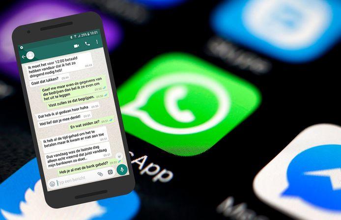 Fraude via WhatsApp kwam in de coronaperiode veelvuldig voor.
