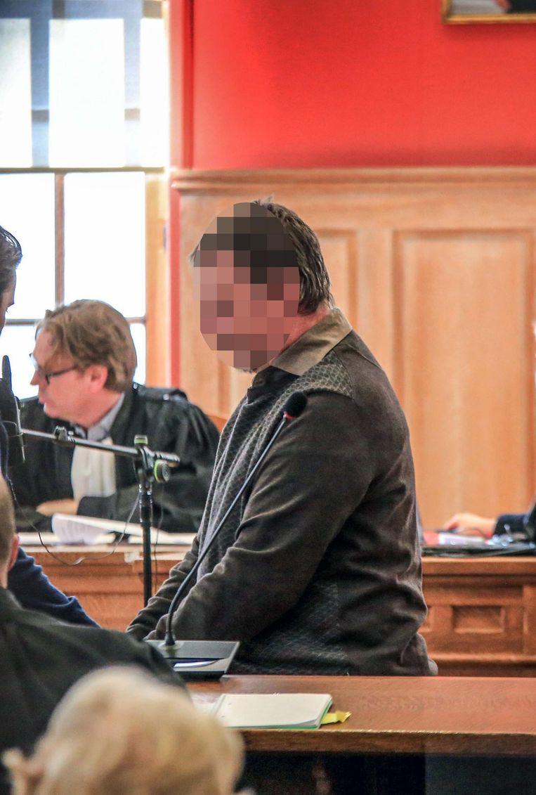 Danny Samyn tijdens zijn proces voor de moord op zijn huisarts Patrik Roelandt (65).
