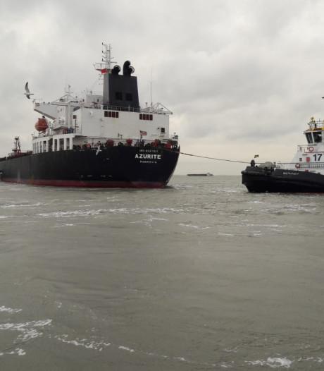 Tanker vervolgt zijn reis na problemen op Westerschelde