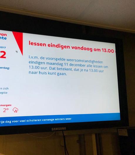 Veel leerlingen in Twente krijgen vanmiddag ijsvrij
