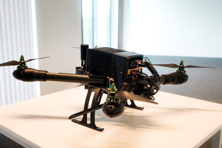 Voorstelling nieuwe drone van Airobot. In picture: het prototype.