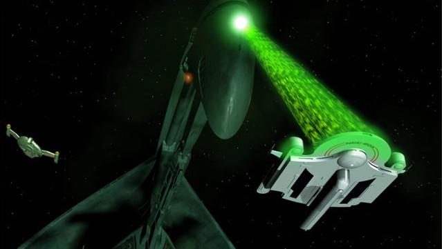 Gevangen in het licht: trekstralen in de ruimteserie Star Trek.
