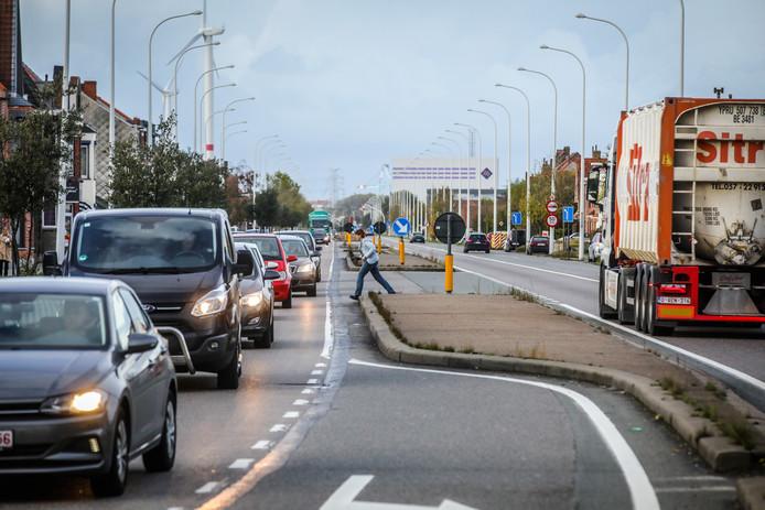 Druk verkeer in Lissewege