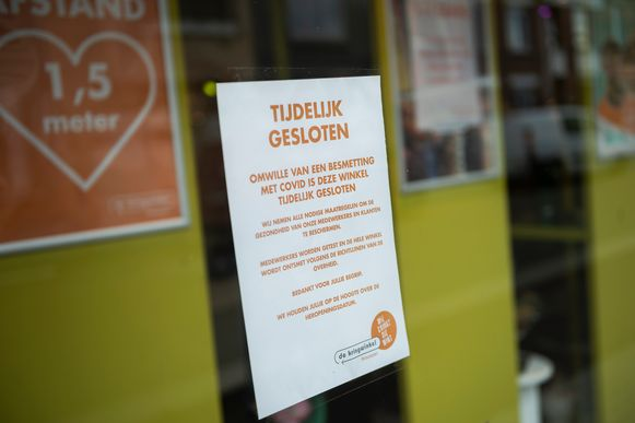De Kringwinkel geeft met een aankondiging aan dat de deuren gesloten blijven door een corona-besmetting