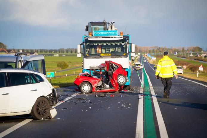 Ruben W. (22) bestuurde de vrachtwagen die op de rode auto van Hillien Bakker knalde, tijdens een horrorcrash op de N50 bij Kampen.