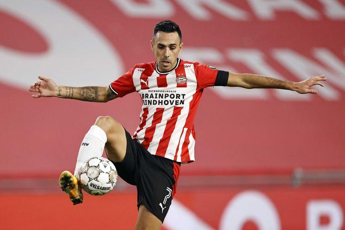 Eran Zahavi in actie voor PSV.