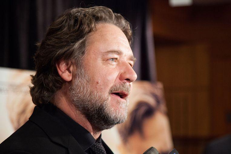 Russell Crowe tijdens de première van The Water Diviner. Beeld getty