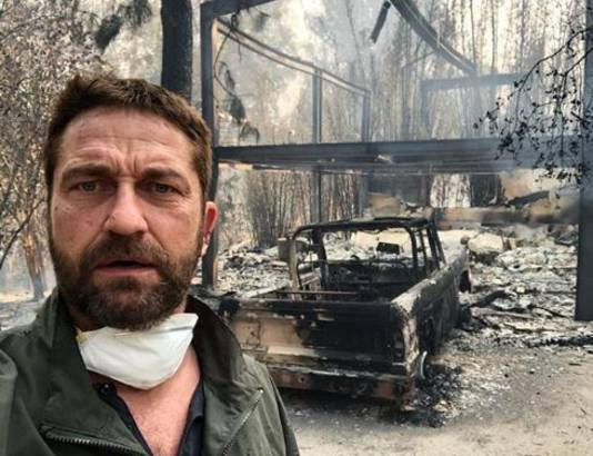 'Heartbreaking time in California', aldus Gerard Butler.