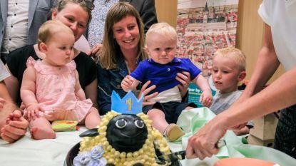 VIDEO. Wanneer smossen toegelaten is... Baby's en Yper Museum vieren samen hun eerste verjaardag met taart