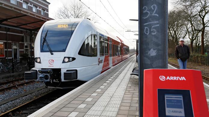 De treinen vertrokken in 2018 net iets minder vaak op tijd van de stations in Tiel en Geldermalsen dan in 2017.