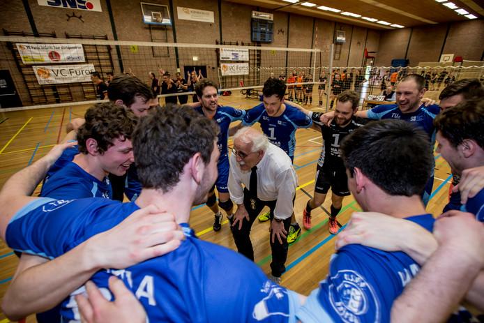 14-04-2018: Volleybal: Mannen Furos v Hajraa: Kerkrade (L-R)
