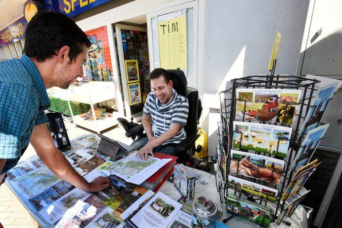 Patrick van der Plas kan door corona dit jaar het Toeristisch Informatie Punt bij de Novy in Moergestel niet bemannen.