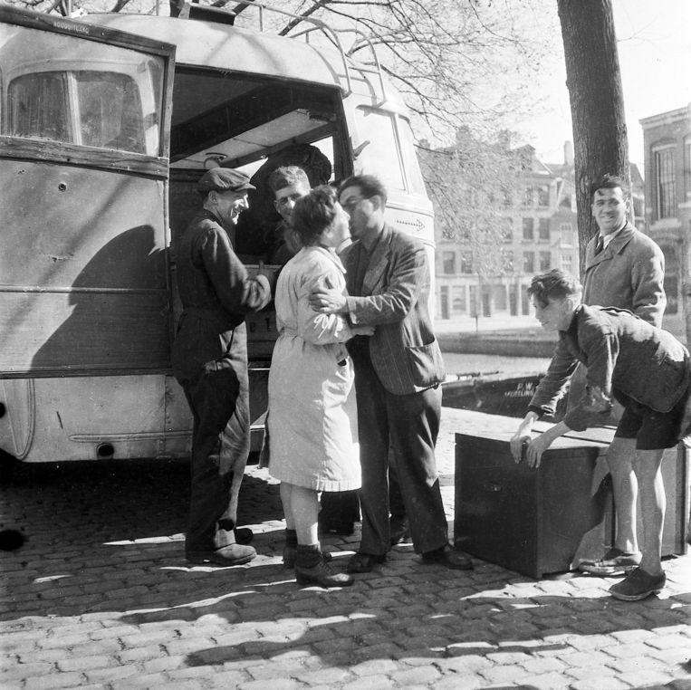 Joden keren in 1945 terug, na de bevrijding Beeld Ad Windig/Maria Austria Instituut