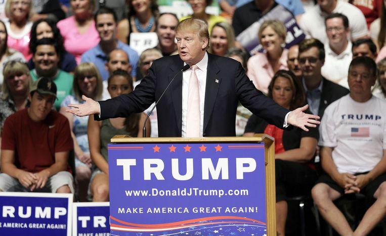Donald Trump, tot dusver de populairste maar ook meest omstreden Republikeinse kandidaat. Beeld null