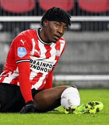 PSV verwacht zondag uitsluitsel over spierblessure Noni Madueke: 'Hij was in goede vorm'