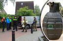Handgranaat gevonden aan deurklink van woning aan Pleinstraat in Hei- en Boeicop.
