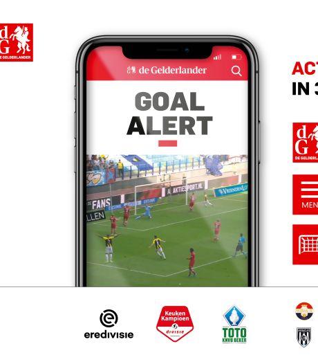 Met Goal Alert mis je nooit meer een doelpunt van je favoriete club