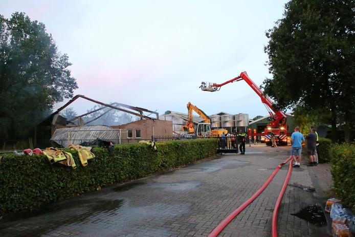 Brand bij nertsenfokkerij in Oirschot.
