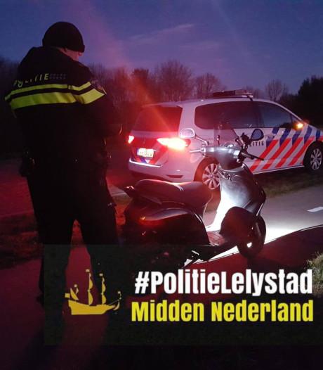 Reeks bekeuringen voor bestuurder gestolen scooter Lelystad