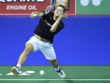 Geen drie op rij voor badmintonner Caljouw in Orléans