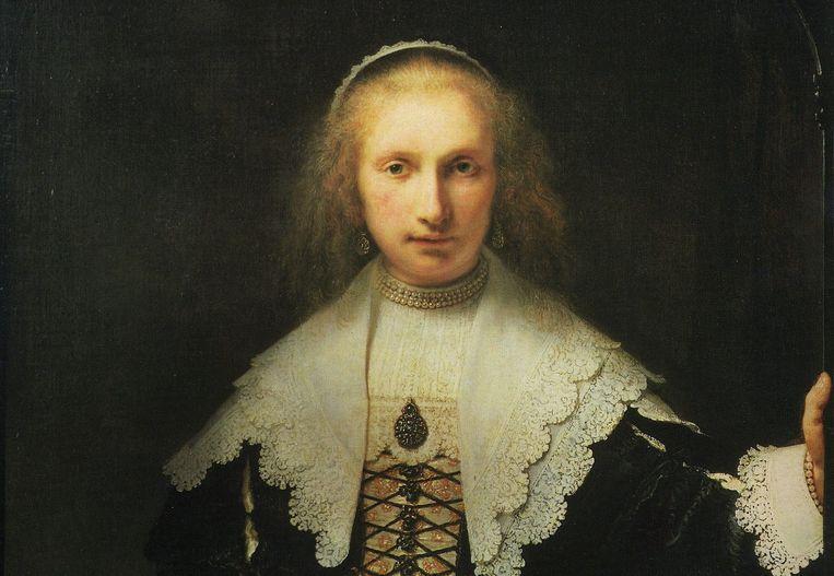 Rembrandts portret van Agatha Bas uit 1641 kijkt de kijker net zo indringend aan als Kevin Spacey in House of Cards. Beeld Hollandse Hoogte