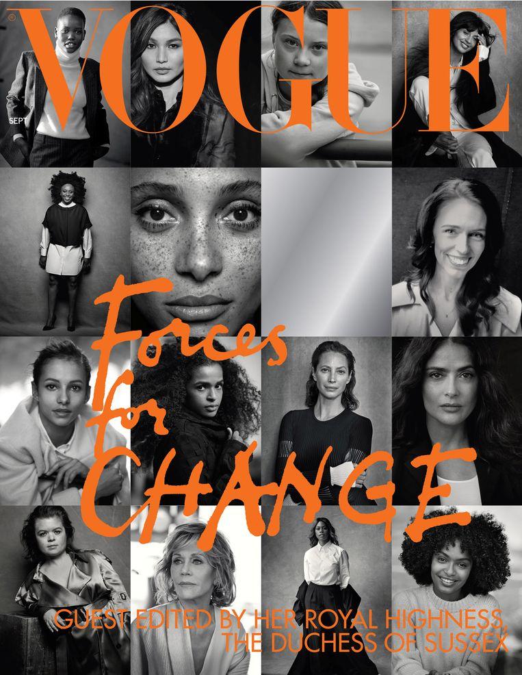 De cover van het septembernummer van de Britse Vogue.