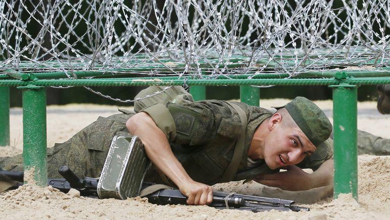 Een Russische soldaat (Archiefbeeld).