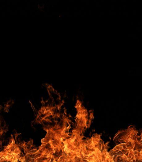 Brandweer blust beginnende bosbrand bij Haarle