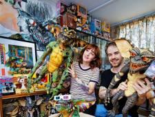 Duizenden Gremlins van Bart en Virginia zijn een kunstwerkje