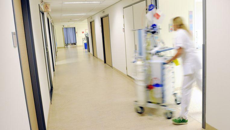 In de gangen van het Sint Jansdal ziekenhuis in Harderwijk. Beeld ANP