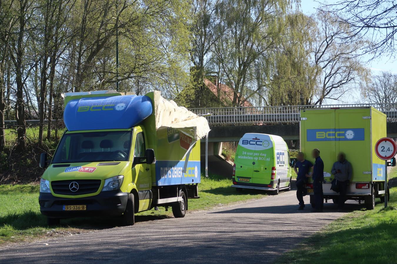Busje ramt viaduct in Terheijden